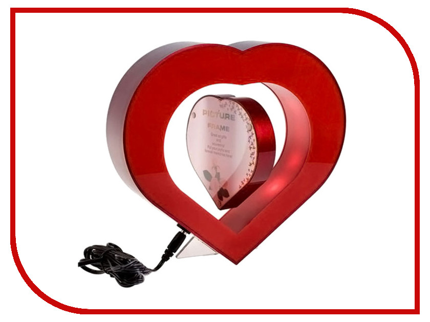 Глобус СмеХторг Фоторамка электромагнитная Сердечко в Сердечке