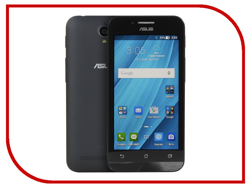 Сотовый телефон ASUS ZenFone Go ZC451TG Black<br>