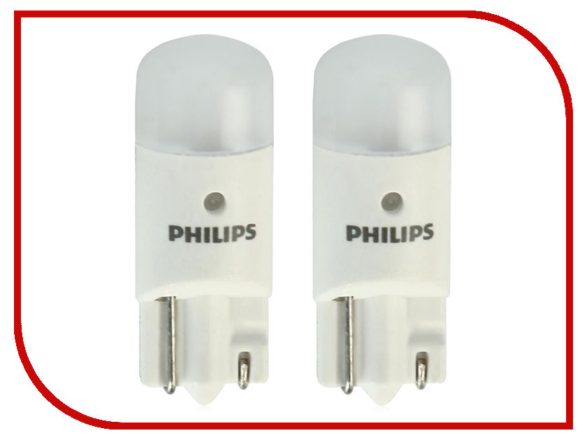 Лампа Philips T10 W5W 4500K 12791 4000KB2 (2 штуки)