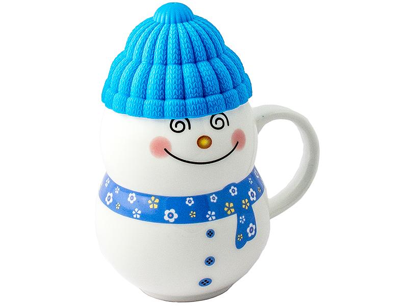 Кружка Эврика Снеговик Blue 96954