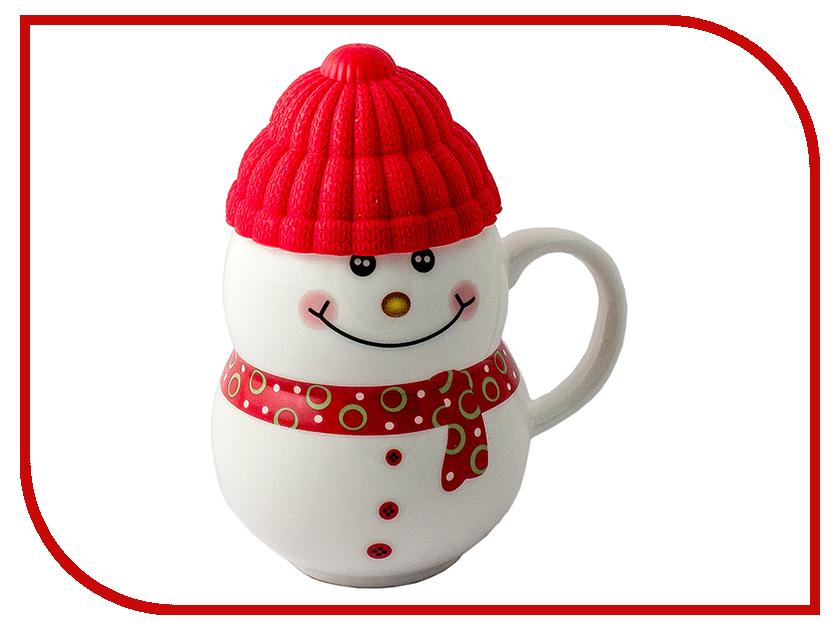 Кружка Эврика Снеговик Red 96955<br>