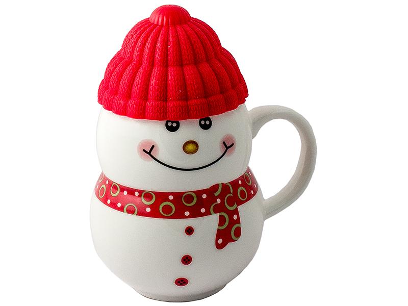Новогодний сувенир Эврика Снеговик Red 96955