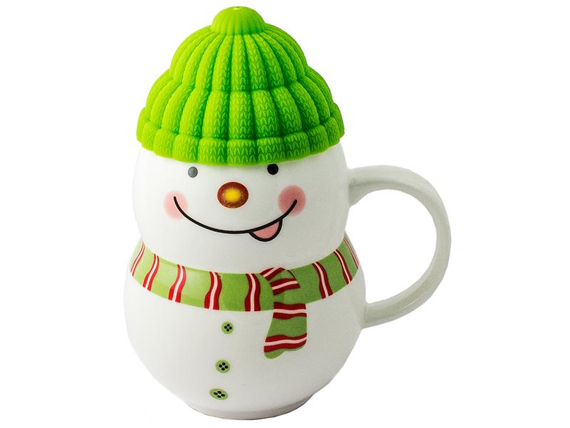 Кружка Эврика Снеговик Green 96952