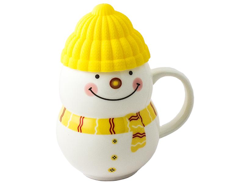 Кружка Эврика Снеговик Yellow 96953
