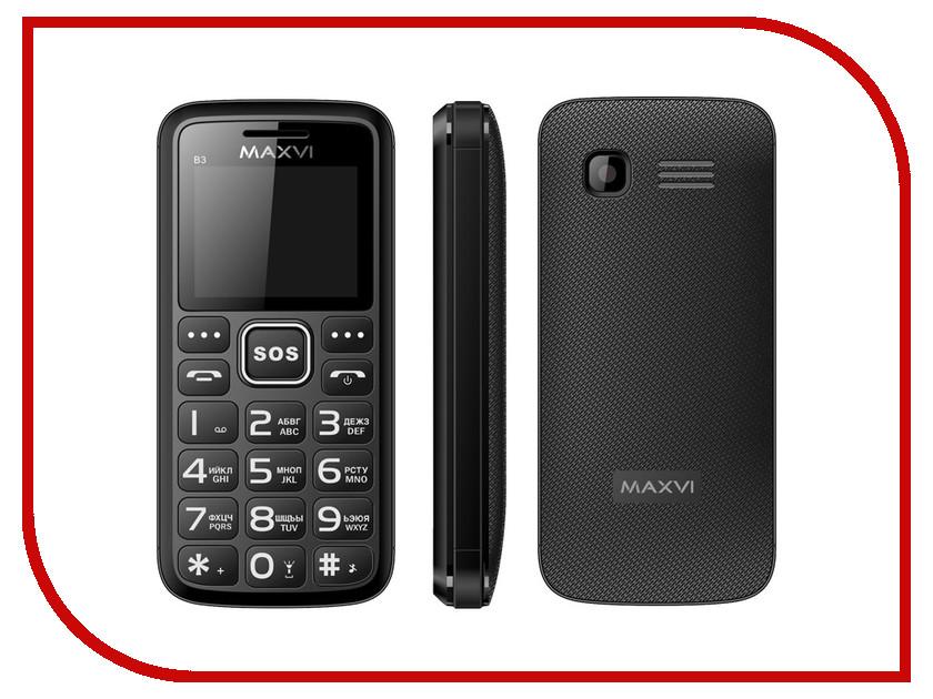 Сотовый телефон Maxvi B3 Black<br>