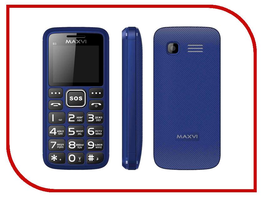 Сотовый телефон Maxvi B3 Blue сотовый телефон maxvi c20 blue
