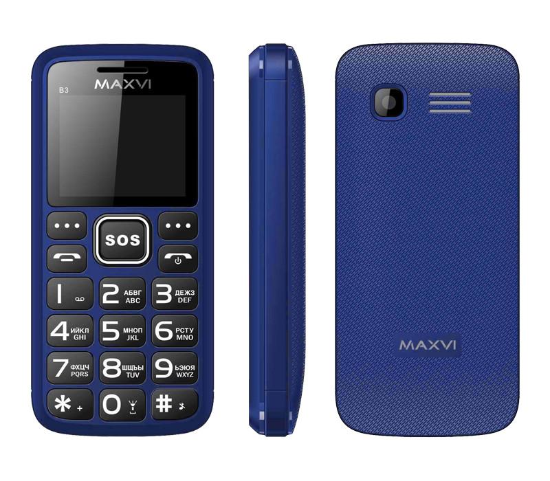 Сотовый телефон Maxvi B3 Blue<br>