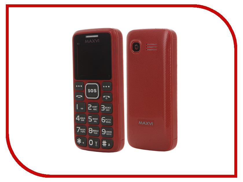 Сотовый телефон Maxvi B3 Red