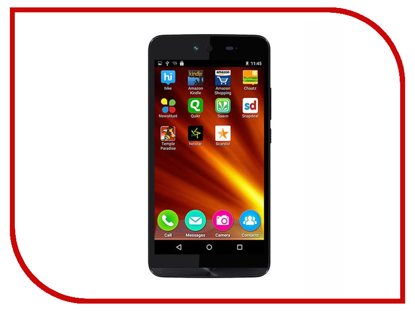 Сотовый телефон Micromax Q338 Canvas Magnus 2 Black смартфон micromax canvas magnus q334 red
