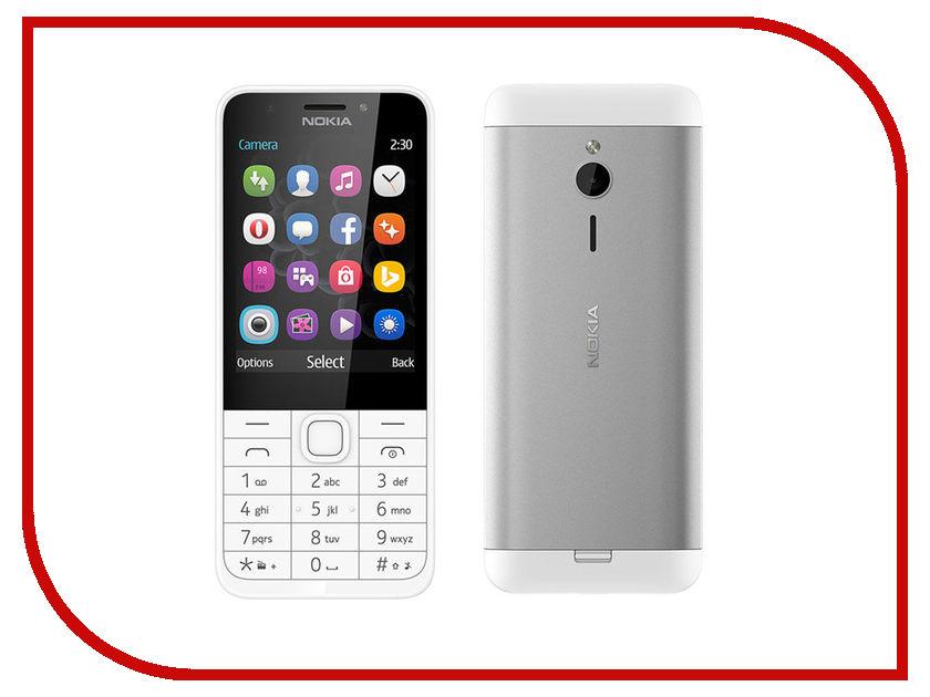 Сотовый телефон Nokia 230 White-Silver<br>