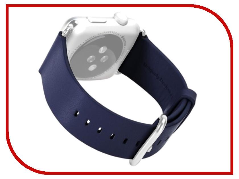 Аксессуар Ремешок APPLE Watch 42mm ROCK Genuine Leather Watchband Navi Blue