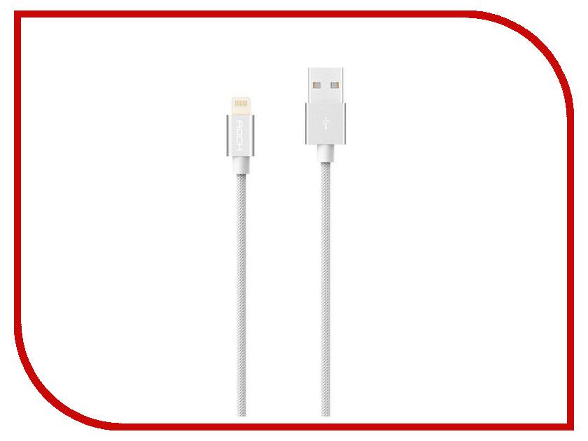 Аксессуар Rock MFI USB-Lightning Cable II RCB0411 White аксессуар rock mfi usb lightning rcb0401 black