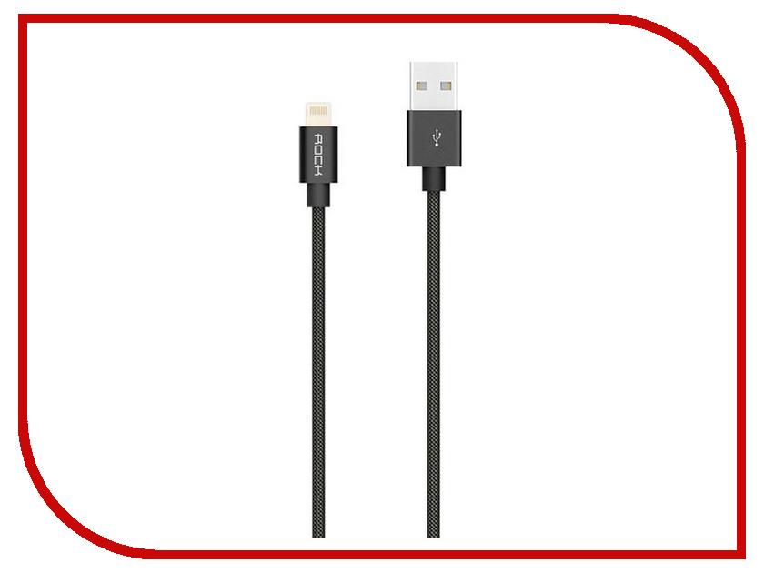 Аксессуар Rock MFI USB-Lightning Cable II RCB0411 Black шарфы nothing but love кашемировый шарф звездная ночь в лос анджелесе с бахромой в стиле кэжуал 180 х 70 см