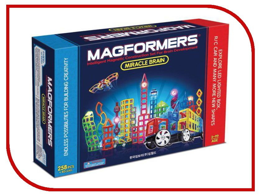 Конструктор Magformers Miracle Brain Set 63093 magformers my first magformers 30