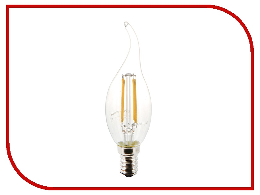 �������� ������� Filament LED CA37 E14 4W 220V 2700K 16-C37-4W-E14