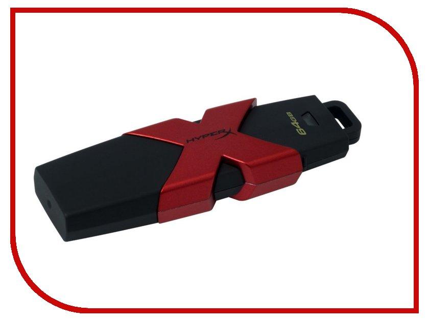 USB Flash Drive 64Gb - Kingston HyperX Savage HXS3/64GB ourspop sj 20 rotary usb 2 0 micro usb flash drive purple 64gb