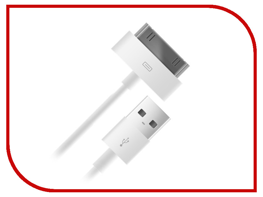 Аксессуар BB USB - Lightning 30pin 004-001 1m White 09071<br>