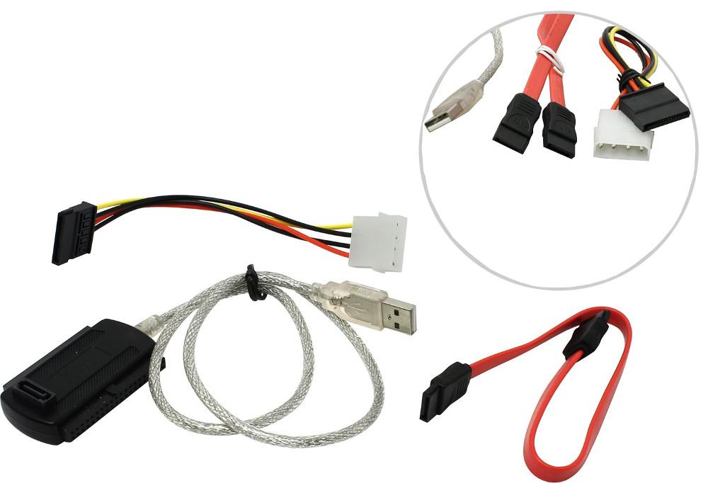 Аксессуар Адаптер VCOM USB 2.0 - SATA/IDE VUS7056