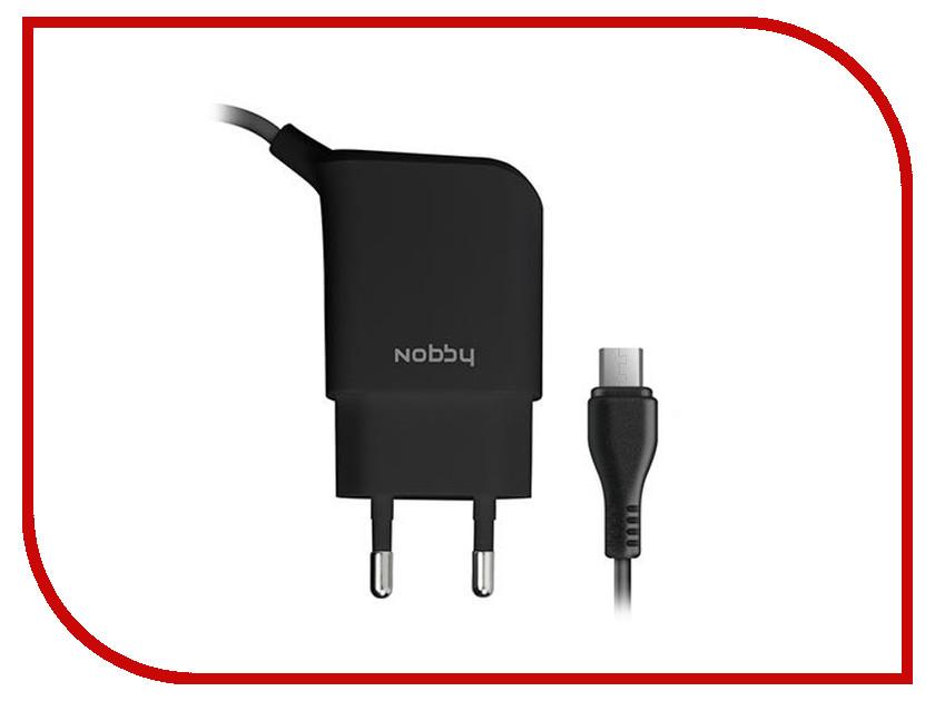 Зарядное устройство Nobby Practic 013-001 micro USB 2.1A 1.2m Black 08997