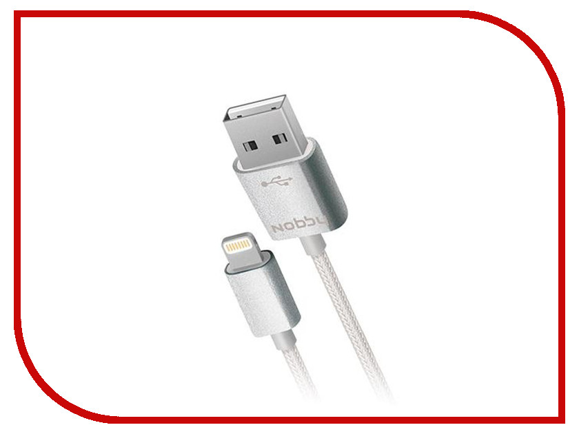 Аксессуар Nobby Comfort USB - Lightning 8 pin 007-001 1m Grey 09075<br>