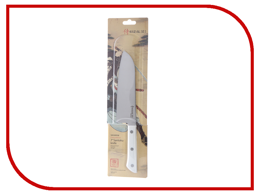 Нож Samura Harakiri SHR-0095W - длина лезвия 175мм нож samura shadow сантоку sh 0095 длина лезвия 175мм