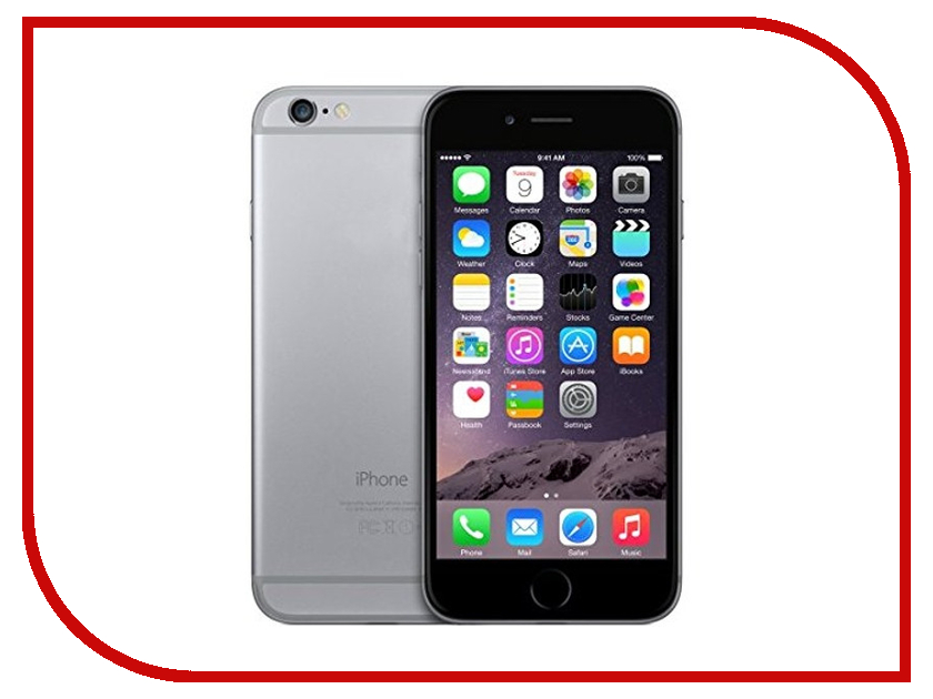 Сотовый телефон APPLE iPhone 6 - 32Gb Space Gray MQ3D2RU/A сотовый телефон apple iphone 8 plus 64gb space gray mq8l2ru a
