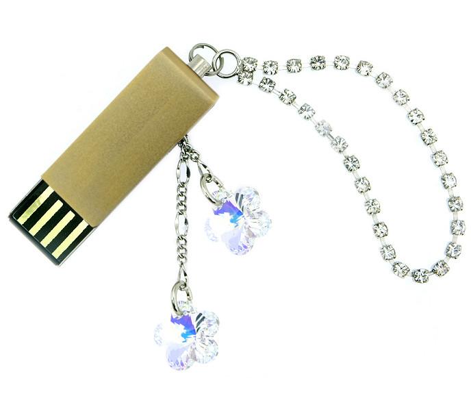 USB Flash Drive 4Gb - Союзмультфлэш Кристаллы Gold FM4SW2.02.GLD<br>