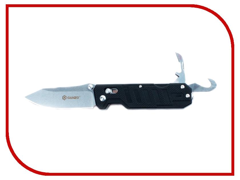 Нож Ganzo G735-BK Black - длина лезвия 86мм нож ganzo g7301 or orange длина лезвия 88мм