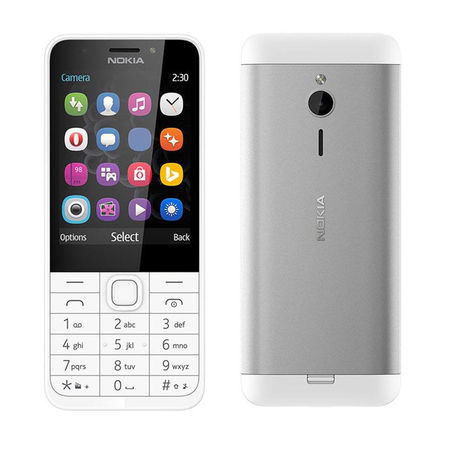 Сотовый телефон Nokia 230 Dual Sim White Silver сотовый телефон nokia 130 dual sim 2017 grey