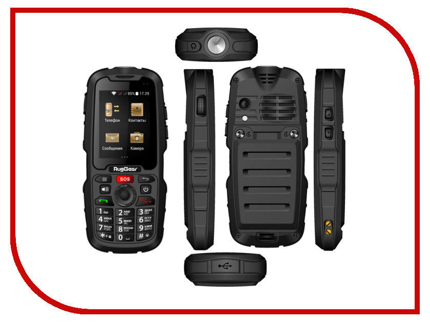 Сотовый телефон RugGear RG310 Voyager смартфон ruggear rug gear 310 voyager черный