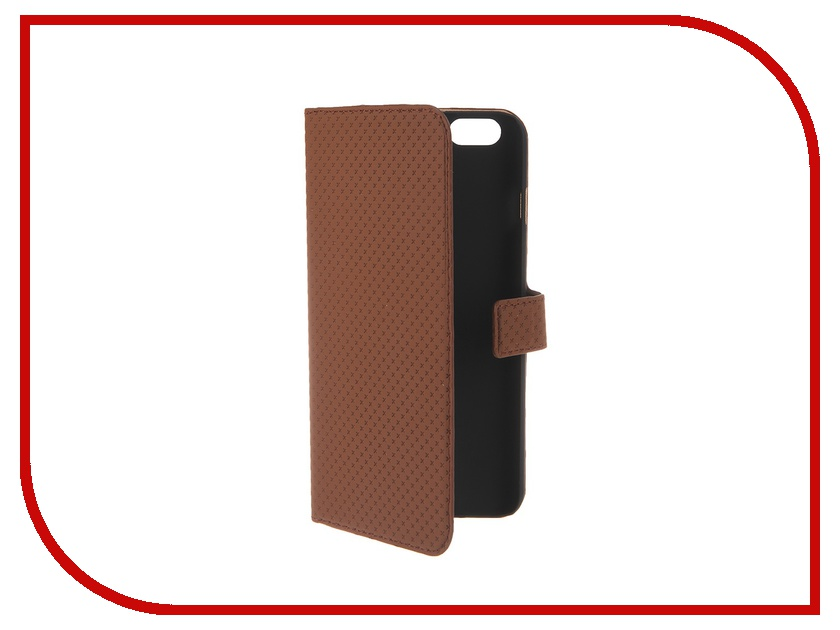 Аксессуар Чехол Muvit Wallet Folio Stand Case для iPhone 6 Plus Brown MUSNS0079 muvit muvit smooth slim folio для iphone 6 plus 6s plus