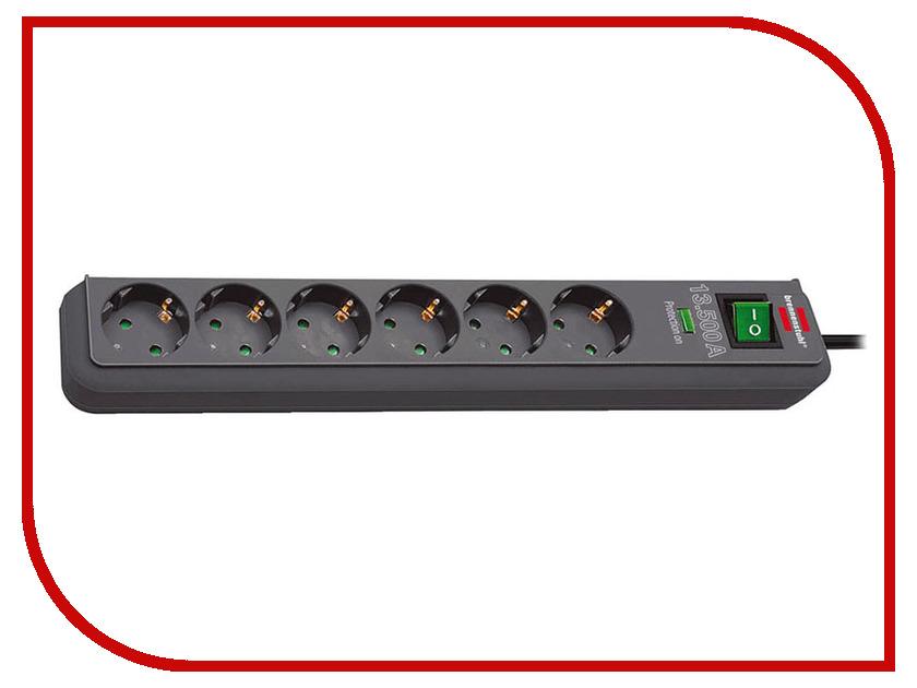 Сетевой фильтр Brennenstuhl Eco-Line 6 Sockets 1.5m Anthracite 1159710 сетевой фильтр eco line 3м 10 розеток черный brennenstuhl 1159300010