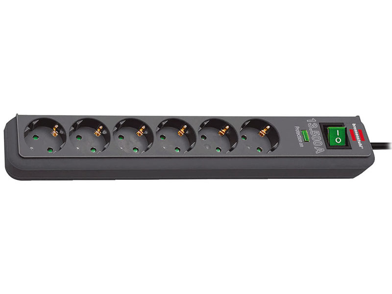 Сетевой фильтр Brennenstuhl Eco-Line 6 Sockets 1.5m Anthracite 1159710