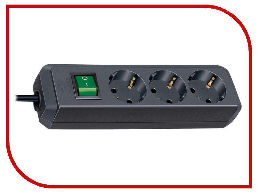 Сетевой фильтр Brennenstuhl Eco-Line 3 Sockets 5m Black 1152900 удлинитель eco line 3м 8 розеток белый brennenstuhl 1159320018