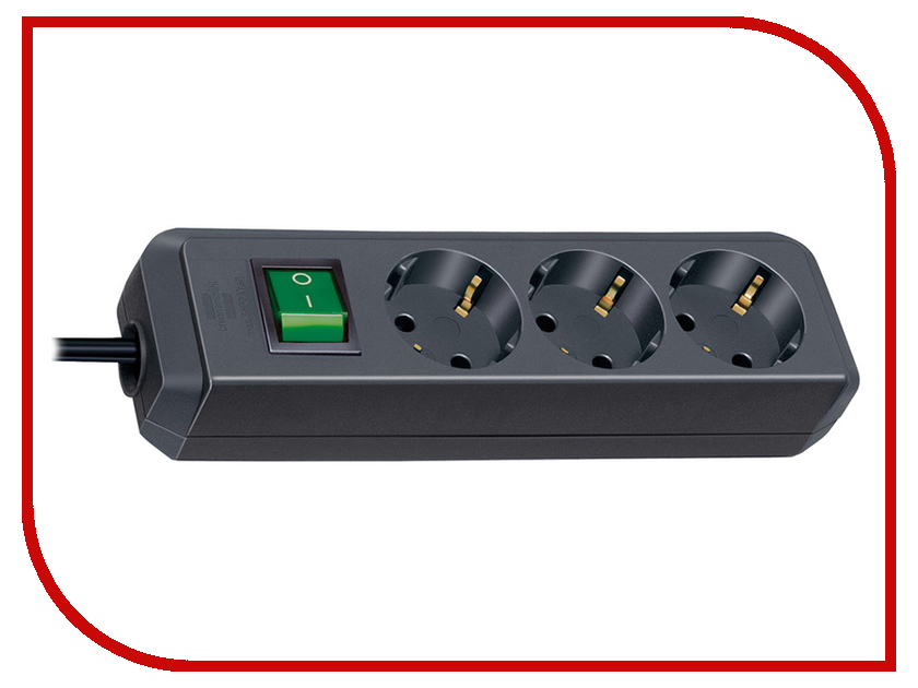 Сетевой фильтр Brennenstuhl Eco-Line 3 Sockets 5m Black 1152900 brennenstuhl primera tec automatic extension socket сетевой фильтр white