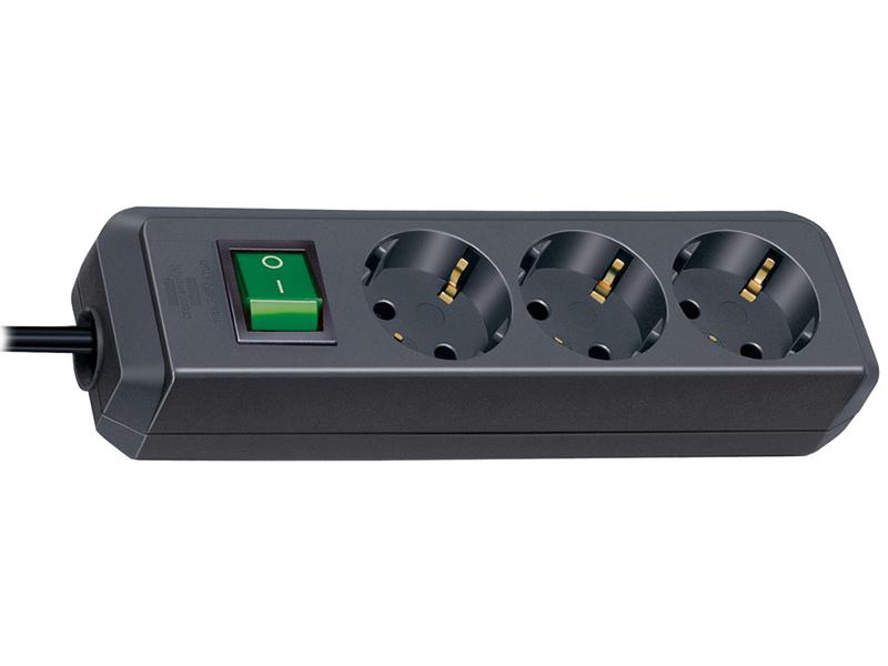 Сетевой фильтр Brennenstuhl Eco-Line 3 Sockets 5m Black 1152900 сетевой фильтр daesung mc2345 4 sockets 5m