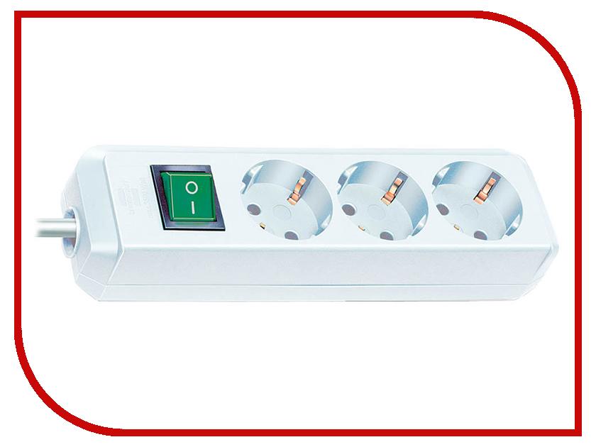 Сетевой фильтр Brennenstuhl Eco-Line 3 Sockets 5m White 1152920 сетевой фильтр eco line 3м 10 розеток черный brennenstuhl 1159300010