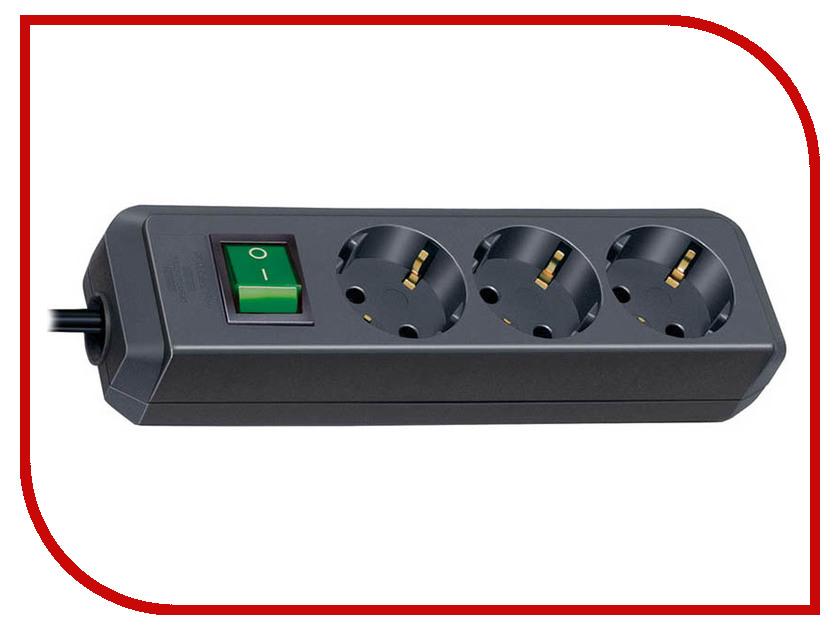 Сетевой фильтр Brennenstuhl Eco-Line 3 Sockets 3m Black 1152300400 сетевой фильтр eco line 3м 10 розеток черный brennenstuhl 1159300010