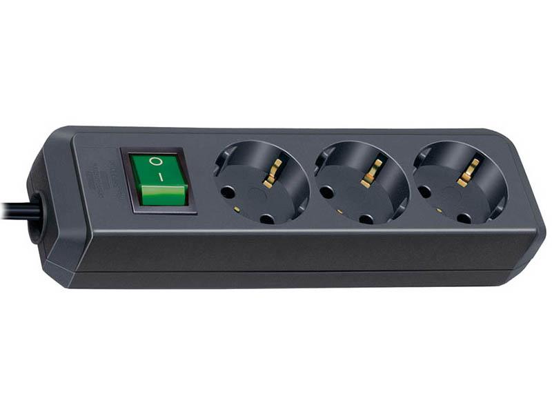 Сетевой фильтр Brennenstuhl Eco-Line 3 Sockets 3m Black 1152300400