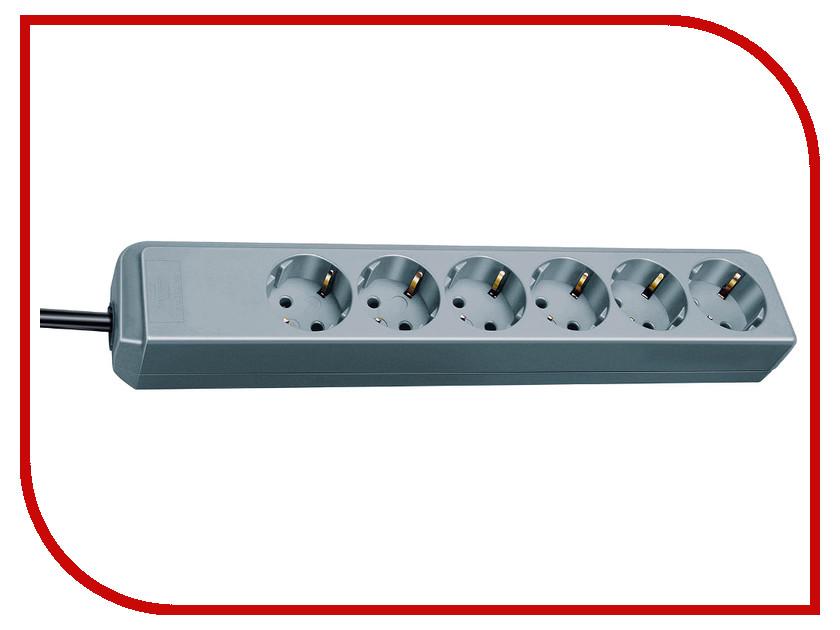 Сетевой фильтр Brennenstuhl Eco-Line 6 Sockets 1.5m Metallic 1159440015