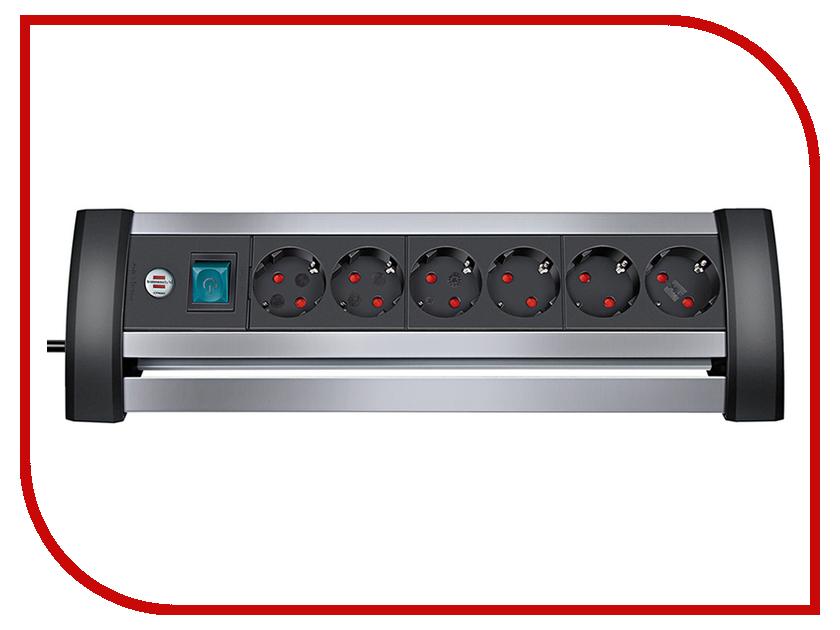 Сетевой фильтр Brennenstuhl Alu-Office-Line 6 Sockets 3m 1394000416 сетевой фильтр brennenstuhl secure tec 6 sockets 3m 1159540376