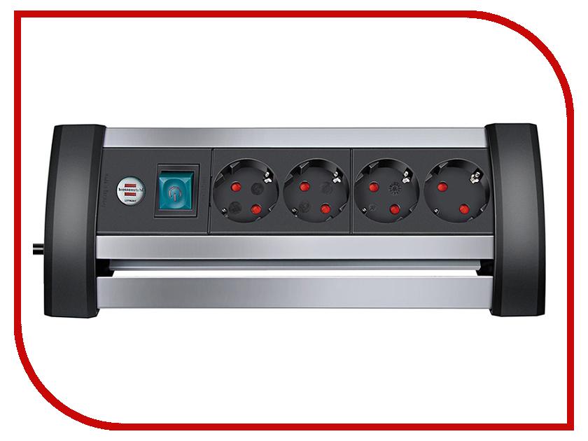 Сетевой фильтр Brennenstuhl Alu-Office-Line 4 Sockets 1.8m 1394000414 удлинитель настольный brennenstuhl alu office line 4 гн с заземл алюм корпус 1 8 м выключатель