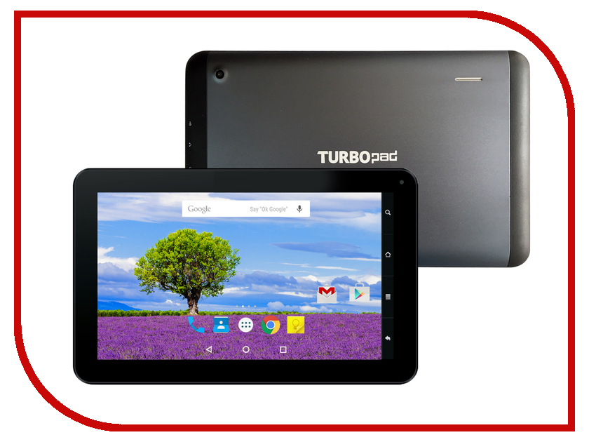 Планшет TurboPad 912 NEW (Cortex A7 1.2 GHz/1024Mb/8Gb/Wi-Fi/Cam/9.0/1024x600/Android)<br>