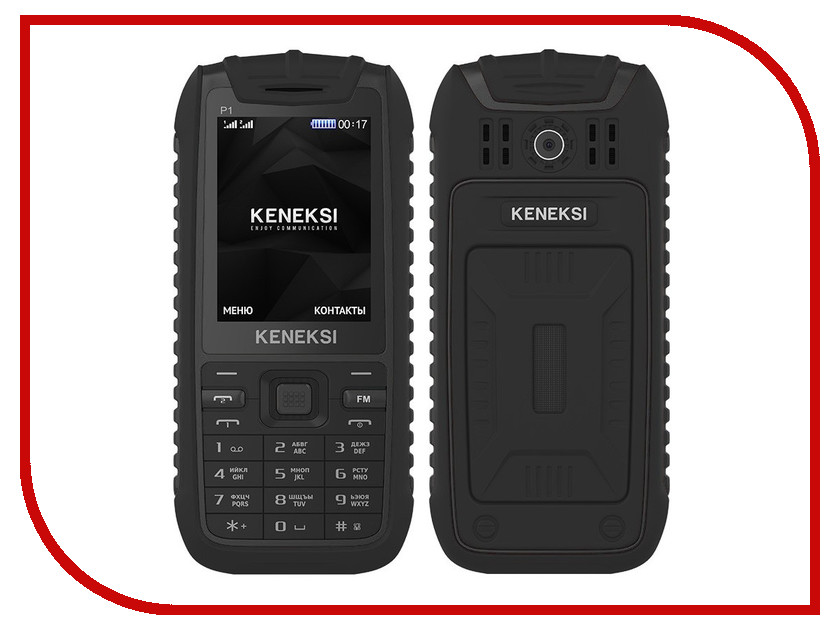 Сотовый телефон KENEKSI P1 Black<br>
