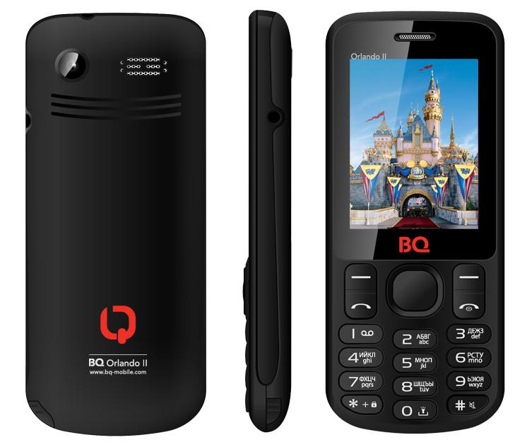 Сотовый телефон BQ BQM-2403 Orlando II Black<br>