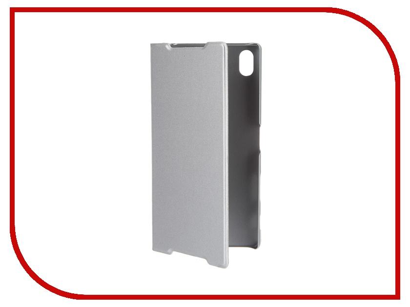 Аксессуар Чехол Sony Xperia Z5 Premium BROSCO Silver Z5P-BOOK-SILVER аксессуар защитная пленка sony xperia z5 premium aksberry матовая