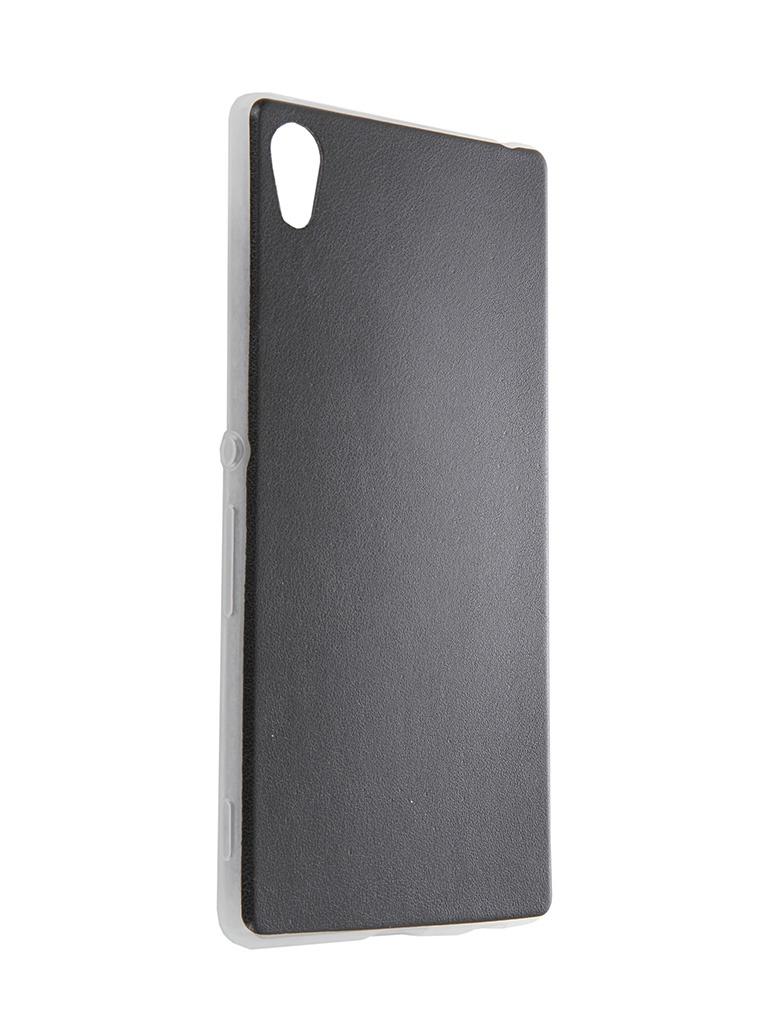 Аксессуар Чехол-накладка Sony Xperia Z3+ BROSCO Z3PLUS-LEATHER-TPU-BLACK<br>