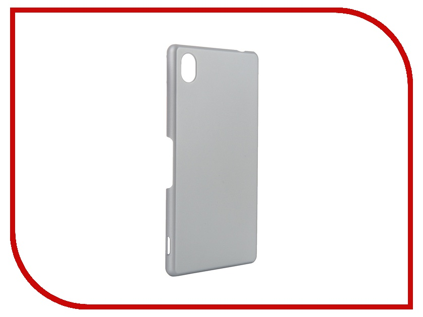 Аксессуар Чехол-накладка Sony Xperia M4 Aqua BROSCO пластиковый Silver M4A-BACK-02-SILVER<br>