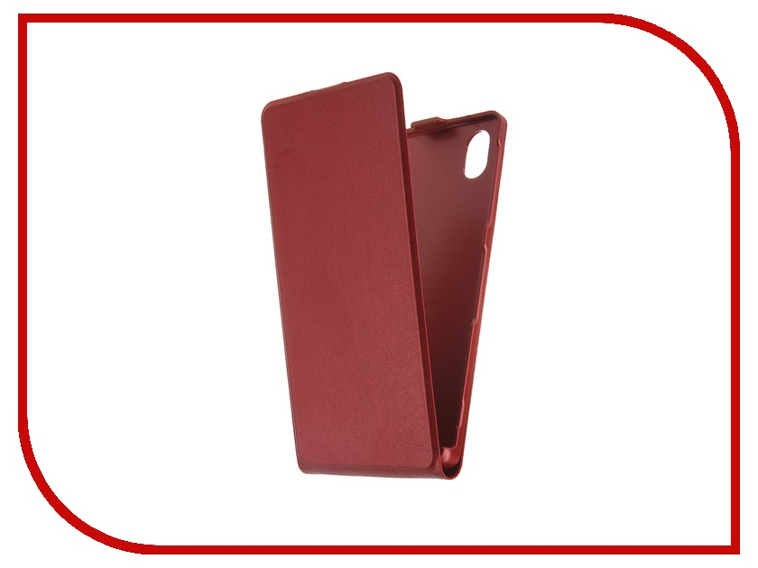Аксессуар Чехол Sony Xperia M4 Aqua BROSCO Dark-Red M4A-SLIMFLIP-DARKRED<br>