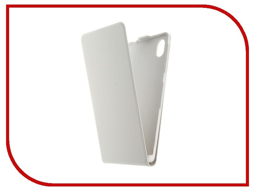Аксессуар Чехол Sony Xperia M4 Aqua BROSCO White M4A-SLIMFLIP-WHITE<br>